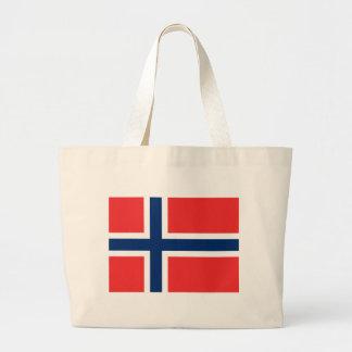 Flagga av norgen jumbo tygkasse