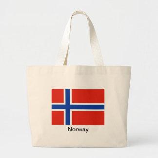 Flagga av norgen tygkasse