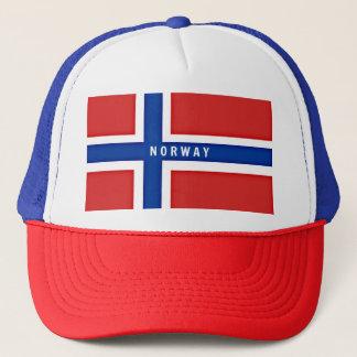 Flagga av norgen keps