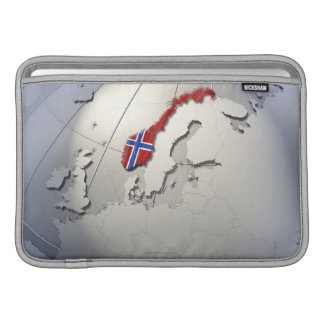 Flagga av norgen MacBook sleeve