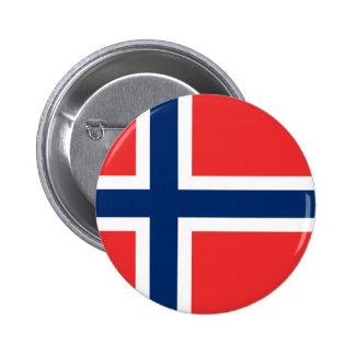 Flagga av norgen - Norges flagg - Det Standard Knapp Rund 5.7 Cm
