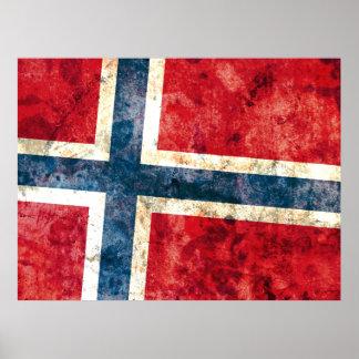 Flagga av norgen poster