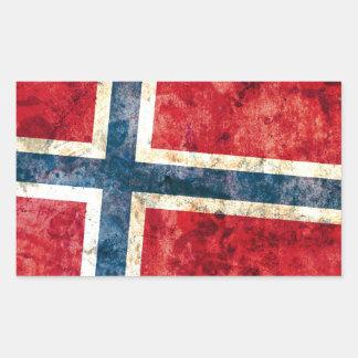 Flagga av norgen rektangulärt klistermärke