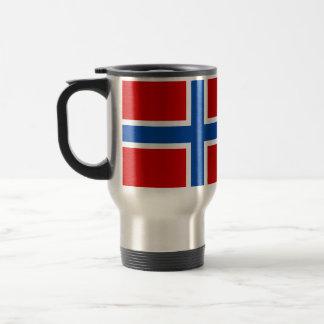 Flagga av norgen rostfritt stål resemugg