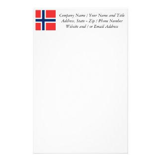 Flagga av norgen - skandinavien brevpapper