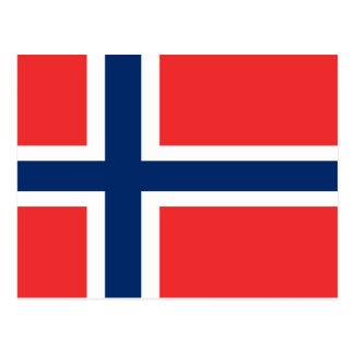 Flagga av norgen vykort