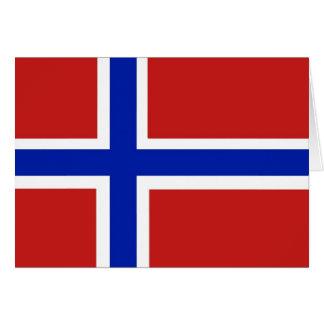 Flagga av norgeskandinavet hälsningskort