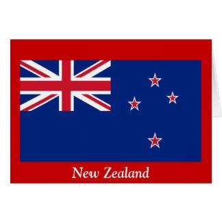 Flagga av nyazeeländskt hälsningskort