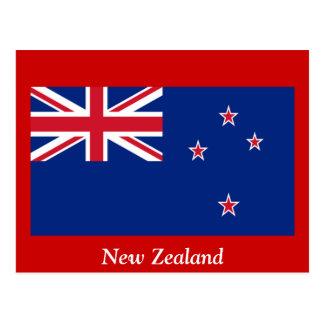 Flagga av nyazeeländskt vykort