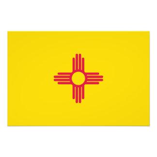Flagga av nytt - mexico fototryck