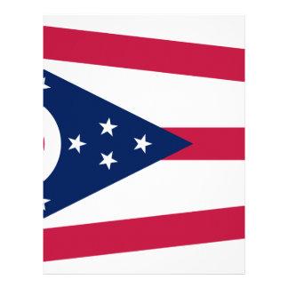 Flagga av Ohio Brevhuvud