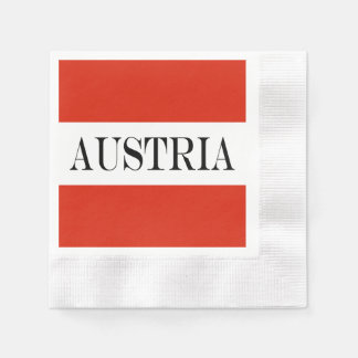 Flagga av Österrike Pappersservett