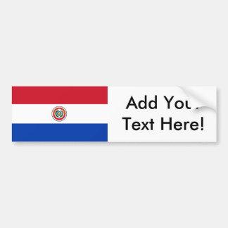 Flagga av Paraguay Bildekal