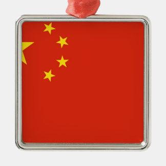 Flagga av People'set Republic of China Julgransprydnad Metall