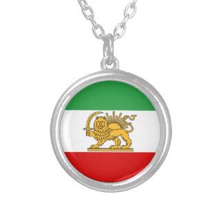 Flagga av Persien/Iran (1964-1980) Silverpläterat Halsband