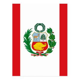 Flagga av Peru Vykort