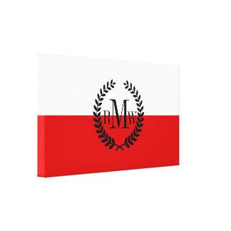 Flagga av Polen Canvastryck