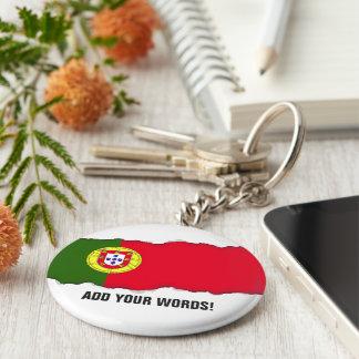 Flagga av Portugal Rund Nyckelring