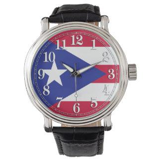 Flagga av Puerto Rico Armbandsur