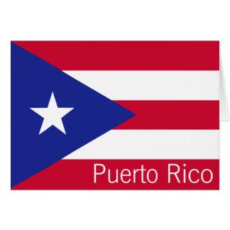 Flagga av Puerto Rico Hälsningskort