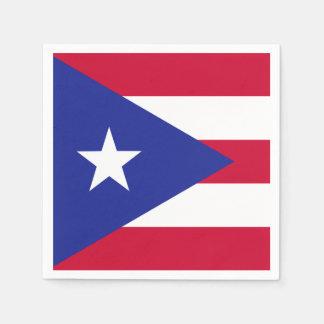 Flagga av Puerto Rico Pappersservett