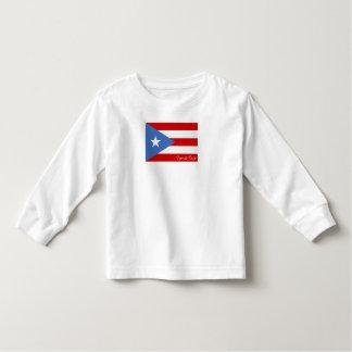 Flagga av Puerto Rico: Patriotiskt Tee Shirt