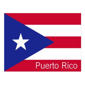 Flagga av Puerto Rico Vykort