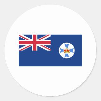 Flagga av Queensland Runt Klistermärke