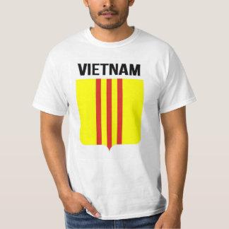 Flagga av republiken av đỏ för sọc för Vietnam Cờ T-shirt