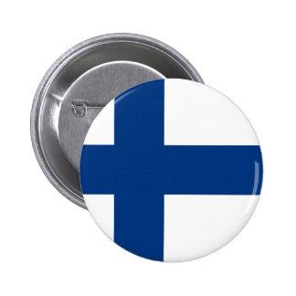 Flagga av republiken av Finland Standard Knapp Rund 5.7 Cm