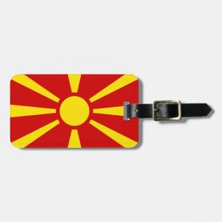 Flagga av Republiken Makedonien Bagagebricka