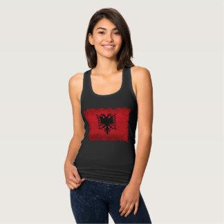 Flagga av Retro stil för Albanien vintage T Shirts