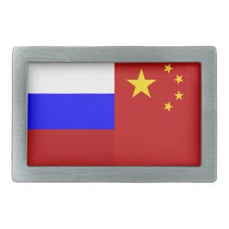 Flagga av Ryssland - flagga av chinan