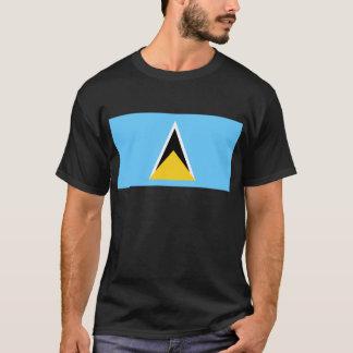 Flagga av Sanktt Lucia T-shirts