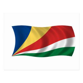 Flagga av Seychellerna Vykort