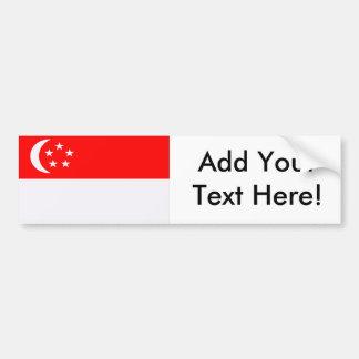 Flagga av Singapore Bildekal
