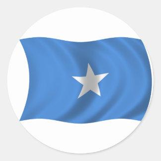 Flagga av Somalia Runt Klistermärke