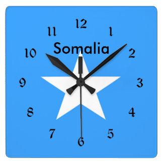 Flagga av Somalia som märks Fyrkantig Klocka