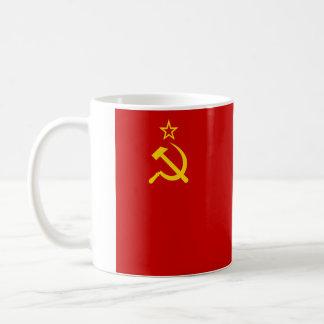 Flagga av sovjet - union kaffemugg
