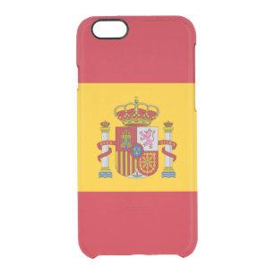 Flagga av Spanien den klara iphone case Clear iPhone 6 6S Skal 0c955344c68e3