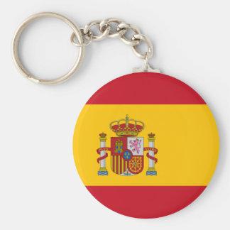 Flagga av Spanien Keychain Rund Nyckelring