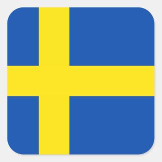 Flagga av sverigen fyrkantigt klistermärke