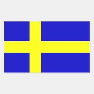 Flagga av sverigen rektangelformat klistermärke