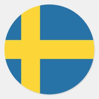 Flagga av sverigen runt klistermärke