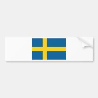 Flagga av sverigen bildekal