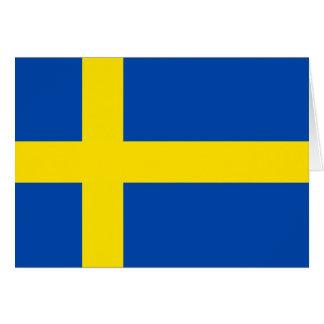 Flagga av sverigen hälsningskort