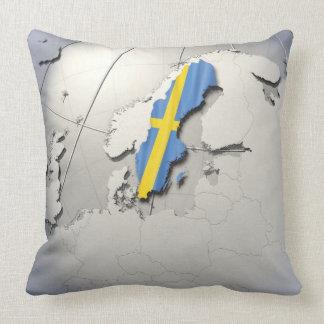 Flagga av sverigen kudde