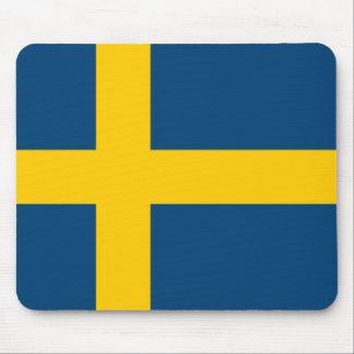 Flagga av sverigen musmattor