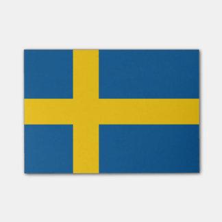 Flagga av sverigen Postar-it® noterar Post-it Lappar