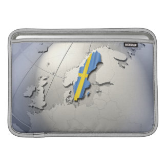 Flagga av sverigen sleeve för MacBook air